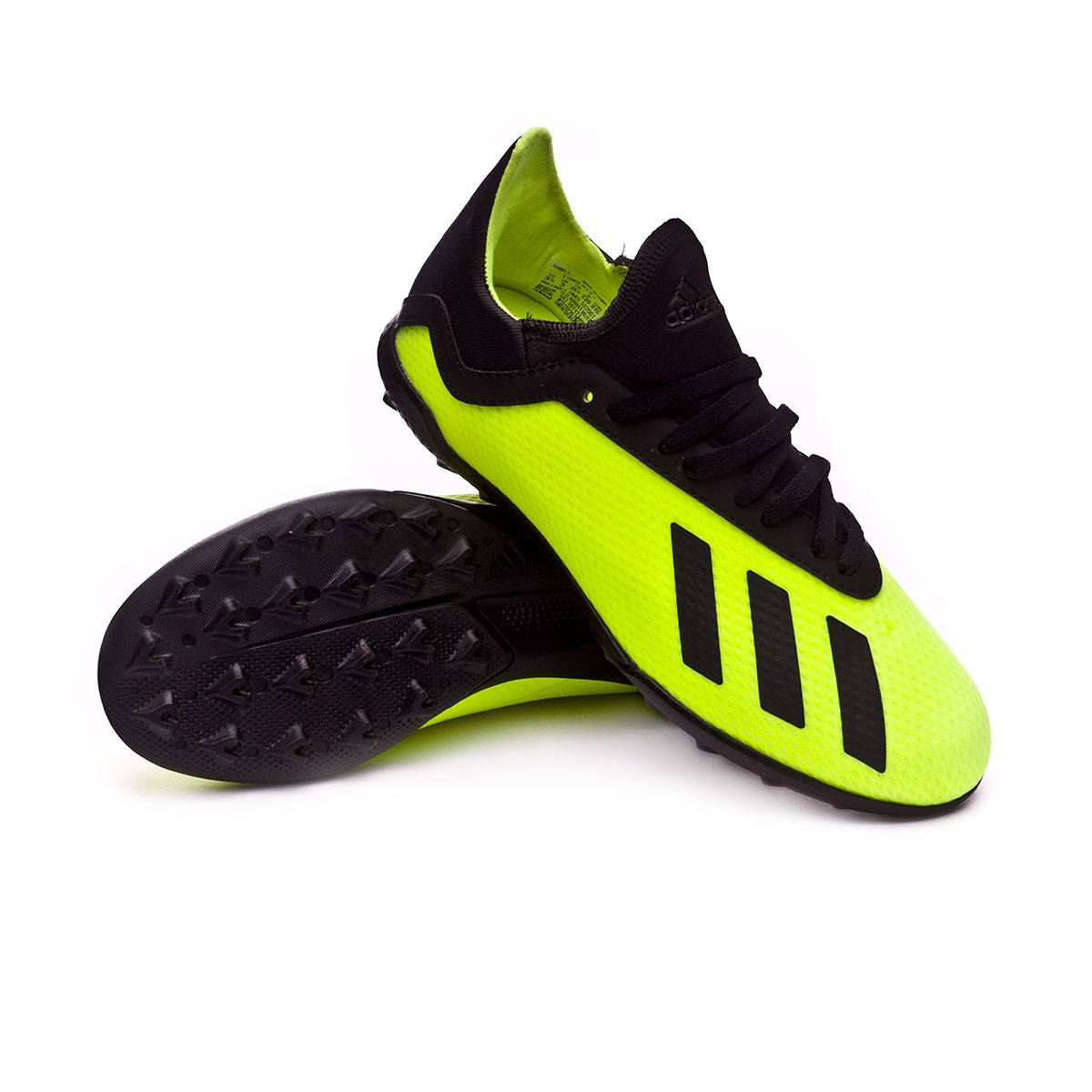 3674d0f59f6d adidas Kids X Tango 18.3 Turf Football Boot. Solar yellow-Core black-Solar  ...