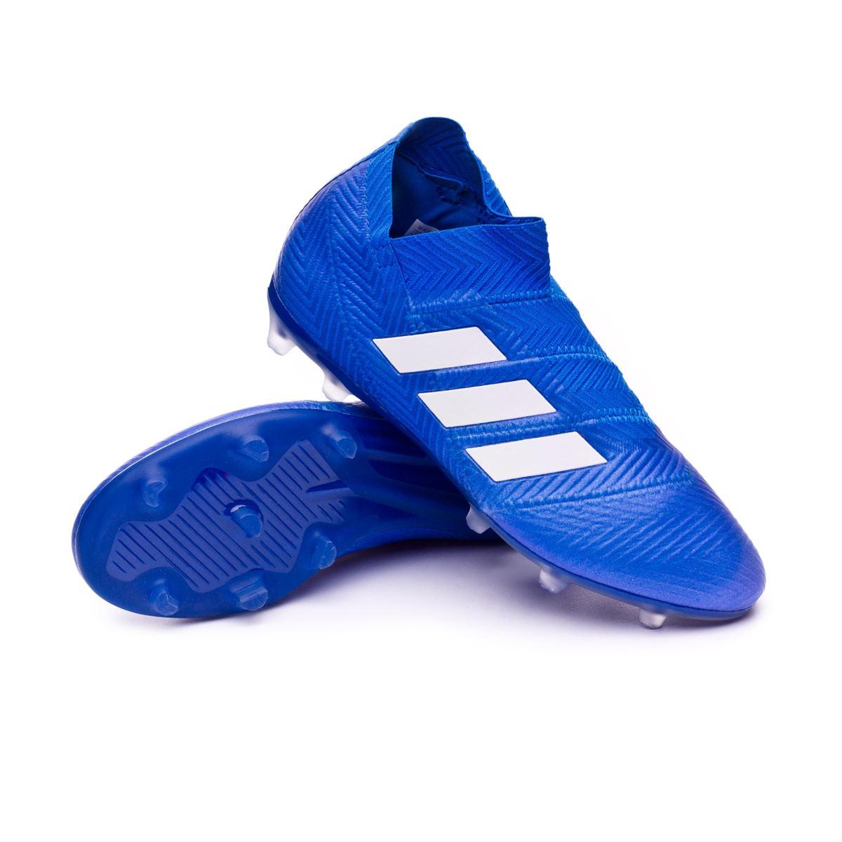 8a1d22b23d47 adidas Kids Nemeziz 18+ FG Football Boots. Football blue-White-Football ...