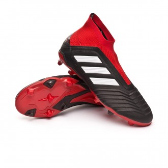 Bota  adidas Predator 18+ FG Niño Core black-White-Red