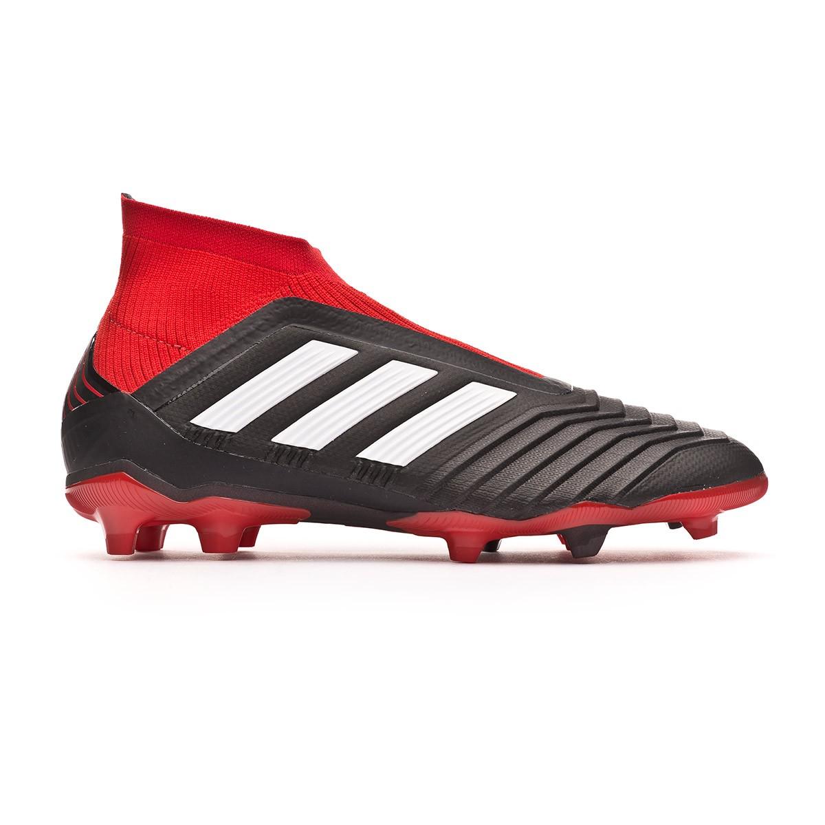 huge discount 3aea4 f9031 Bota de fútbol adidas Predator 18+ FG Niño Core black-White-Red - Leaked  soccer