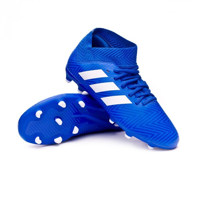 55960c71ef Chuteira adidas Nemeziz 18.3 FG Crianças Football blue-White ...