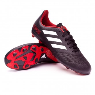 Bota  adidas Predator 18.4 FxG Niño Core black-White-Red