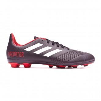 Football Boots  adidas Kids Predator 18.4 FxG Core black-White-Red