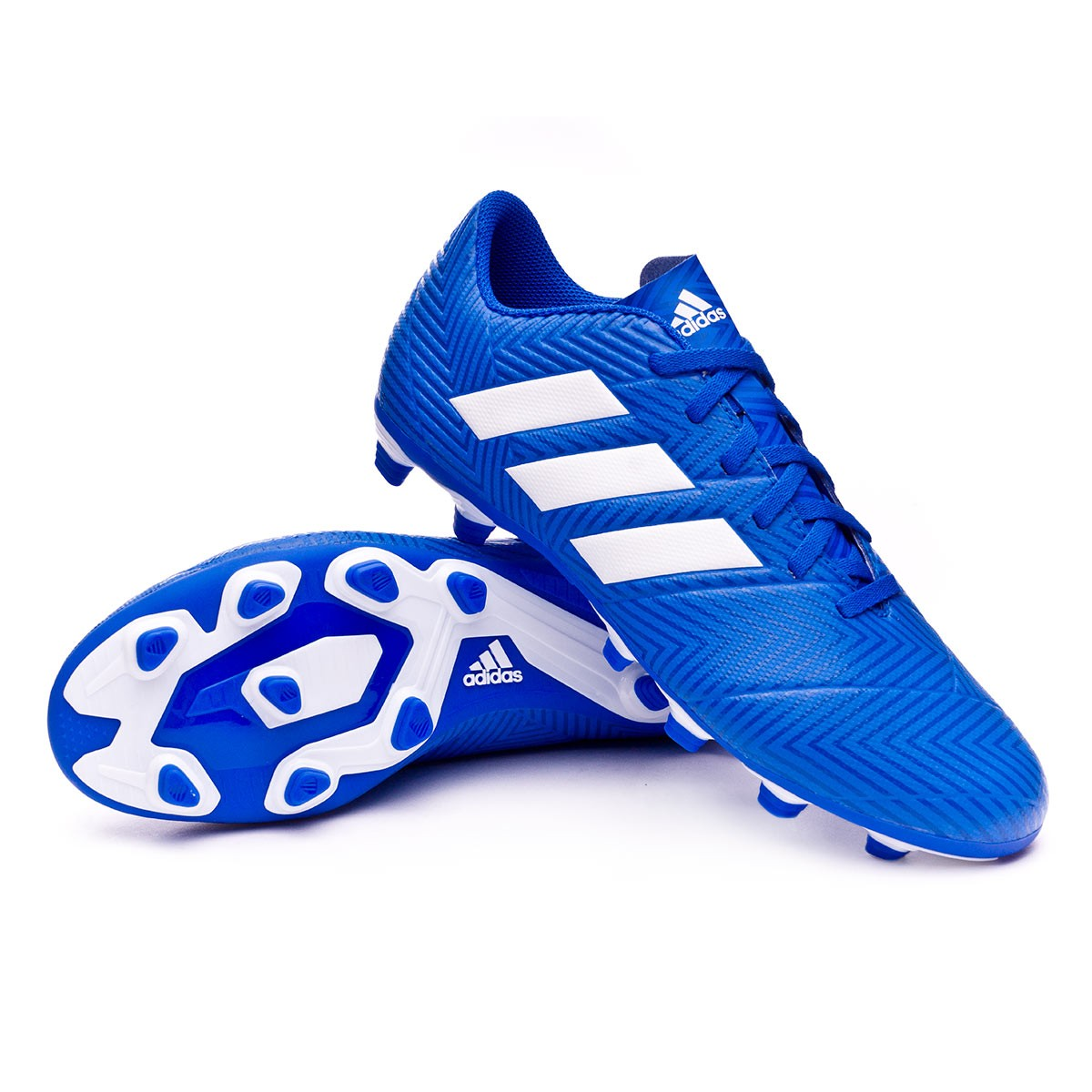 f4c38b49bd09 Football Boots adidas Nemeziz 18.4 FxG Football blue-White-Football ...
