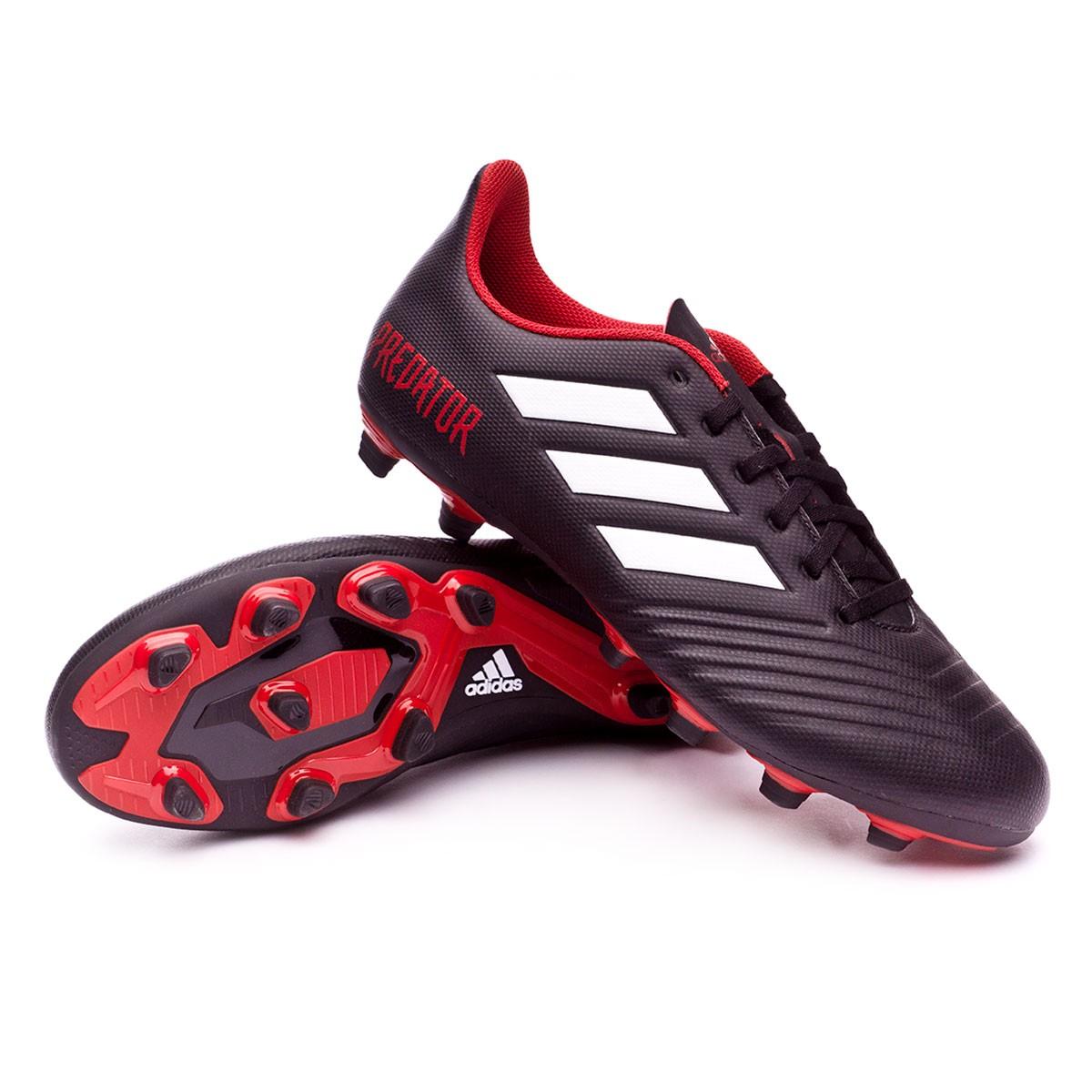 2c3151e19b316 adidas Predator 18.4 FxG Football Boots. Core black-White-Red ...