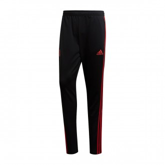 Tracksuit bottoms  adidas Manchester United FC Training 2018-2019 Black-Blaze red-Core pink