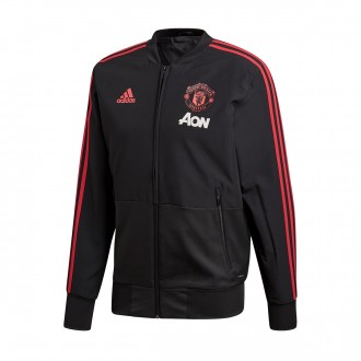 Jacket  adidas Manchester United FC Prematch 2018-2019 Black-Blaze red-Core pink