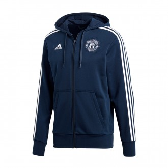 Chaqueta  adidas Manchester United FC 3S FZ Hoodie 2018-2019 Collegiate navy-White