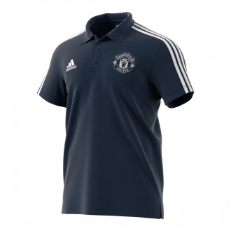 Polo shirt  adidas Manchester United FC 3S 2018-2019 Collegiate navy-White