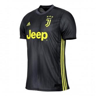 Camiseta  adidas Juventus Tercera Equipación 2018-2019 Carbon-Shock yellow
