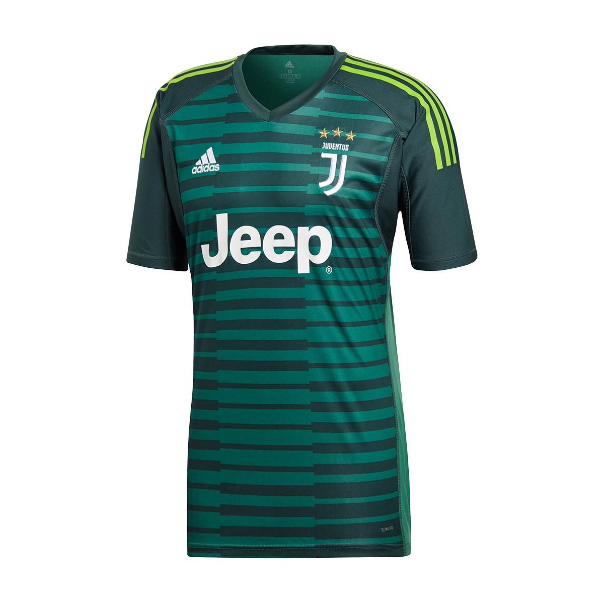 27fc3f21553 Jersey adidas Juventus 2018-2019 Goalkeeper Mineral green-Tech ...