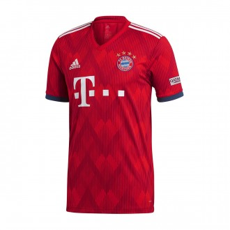 Camisola  adidas FC Bayern Munich Equipamento Principal 2018-2019 True red-Strong red-White