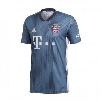 Camiseta  adidas FC Bayern Munich Tercera Equipación 2018-2019 Steel-Utility blue-White