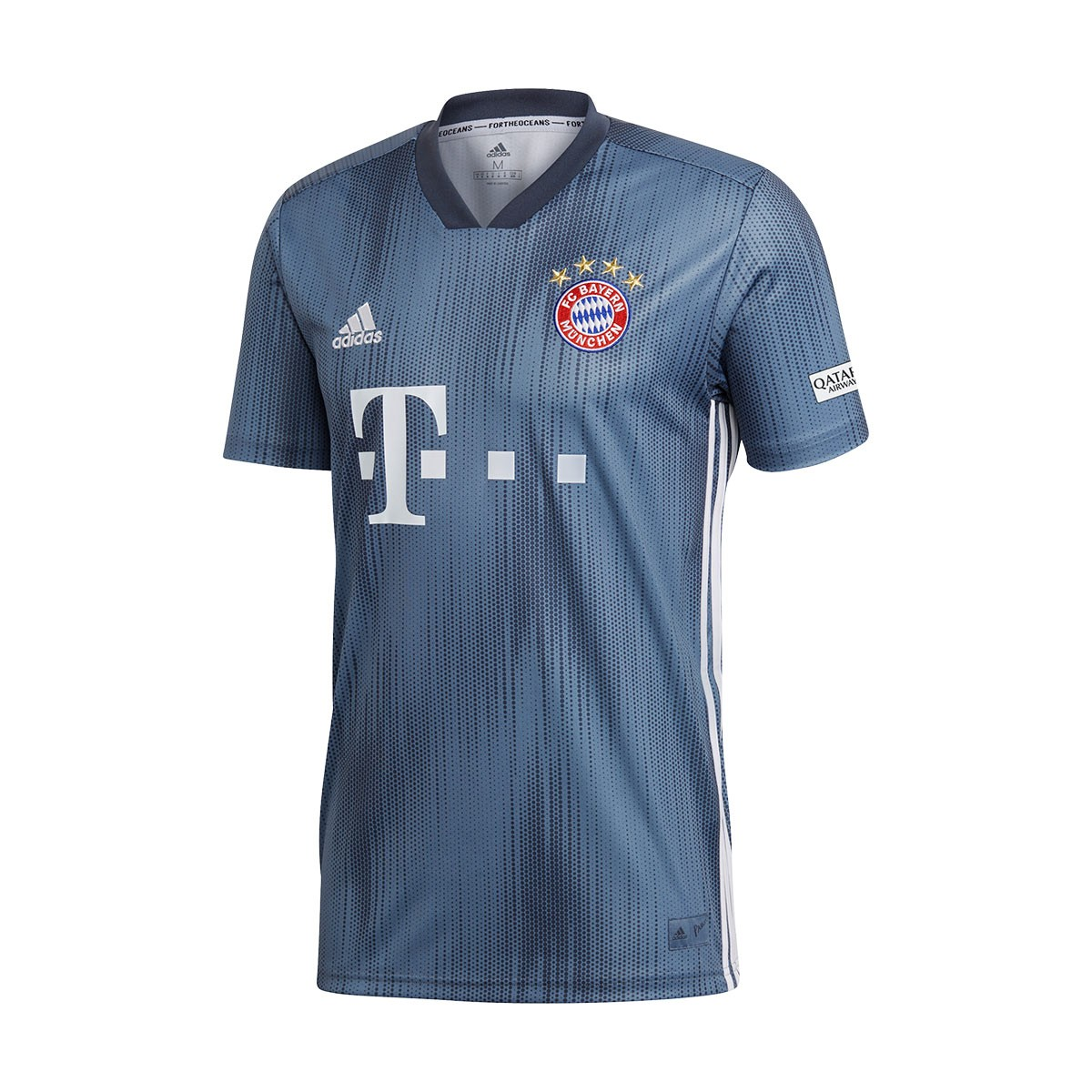new product 46b46 e2df3 Camiseta FC Bayern Munich Tercera Equipación 2018-2019 Steel-Utility  blue-White