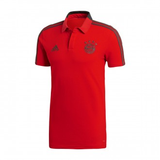 Polo shirt  adidas FC Bayern Munich 2018-2019 Red-Utility ivy