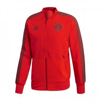 Jacket  adidas FC Bayern Munich Prematch 2018-2019 Red-Utility ivy