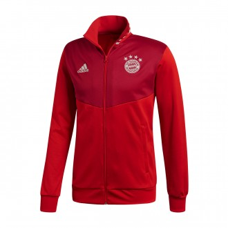 Chaqueta  adidas FC Bayern Munich 3S 2018-2019 True red-Strong red