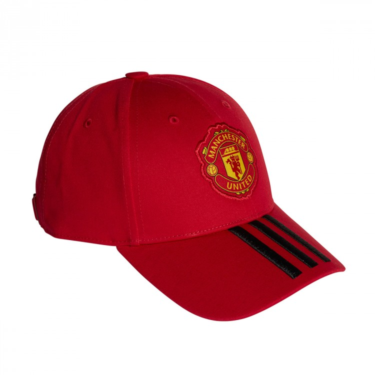 Gorra adidas Manchester United FC 3S 2018-2019 Real red-Black ... d0d1331f955