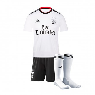 Kit  adidas Kids SL Benfica 2018-2019 Away White-Black-Benfica red
