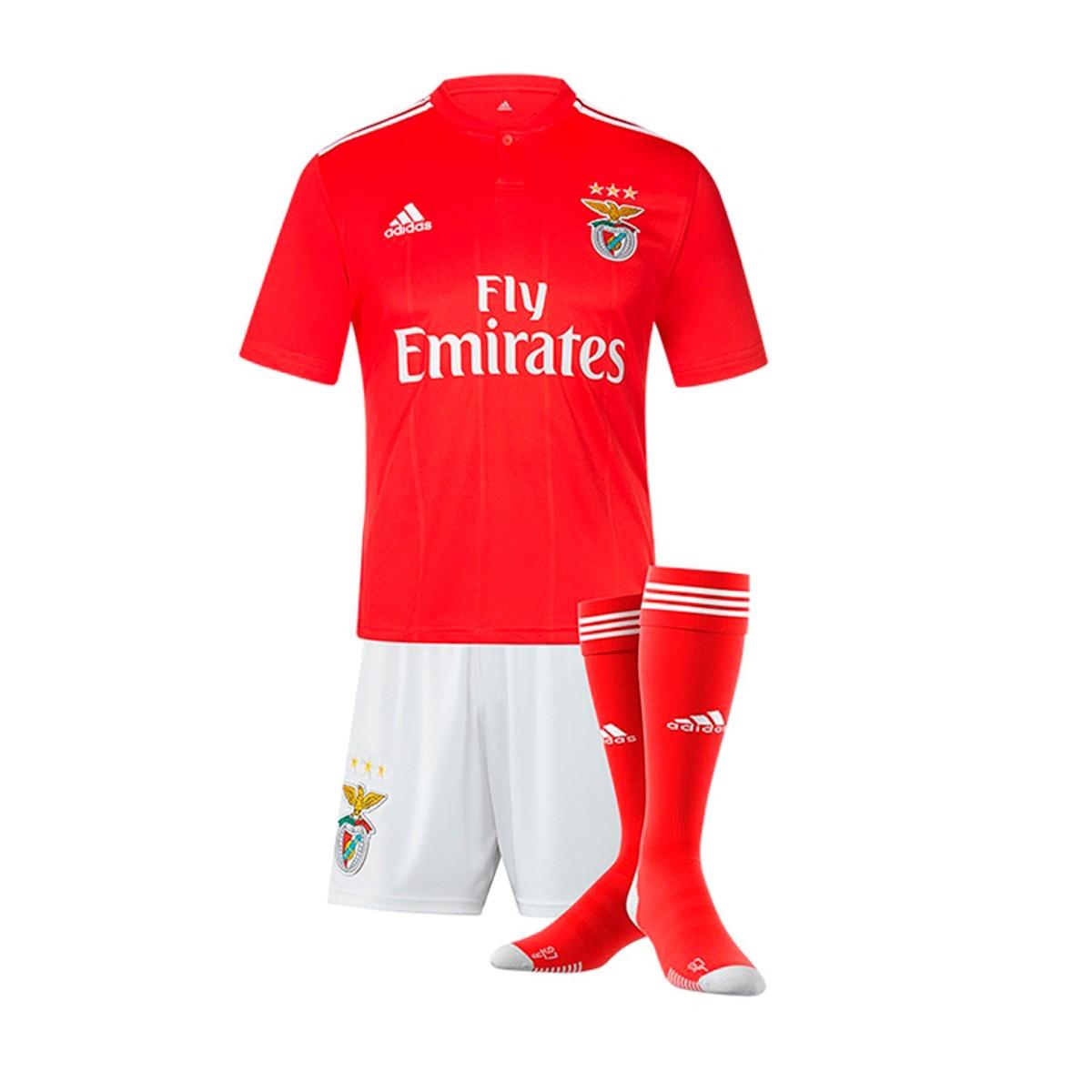 Conjunto SL Benfica Primera Equipación 2018 2019 Niño Benfica red White