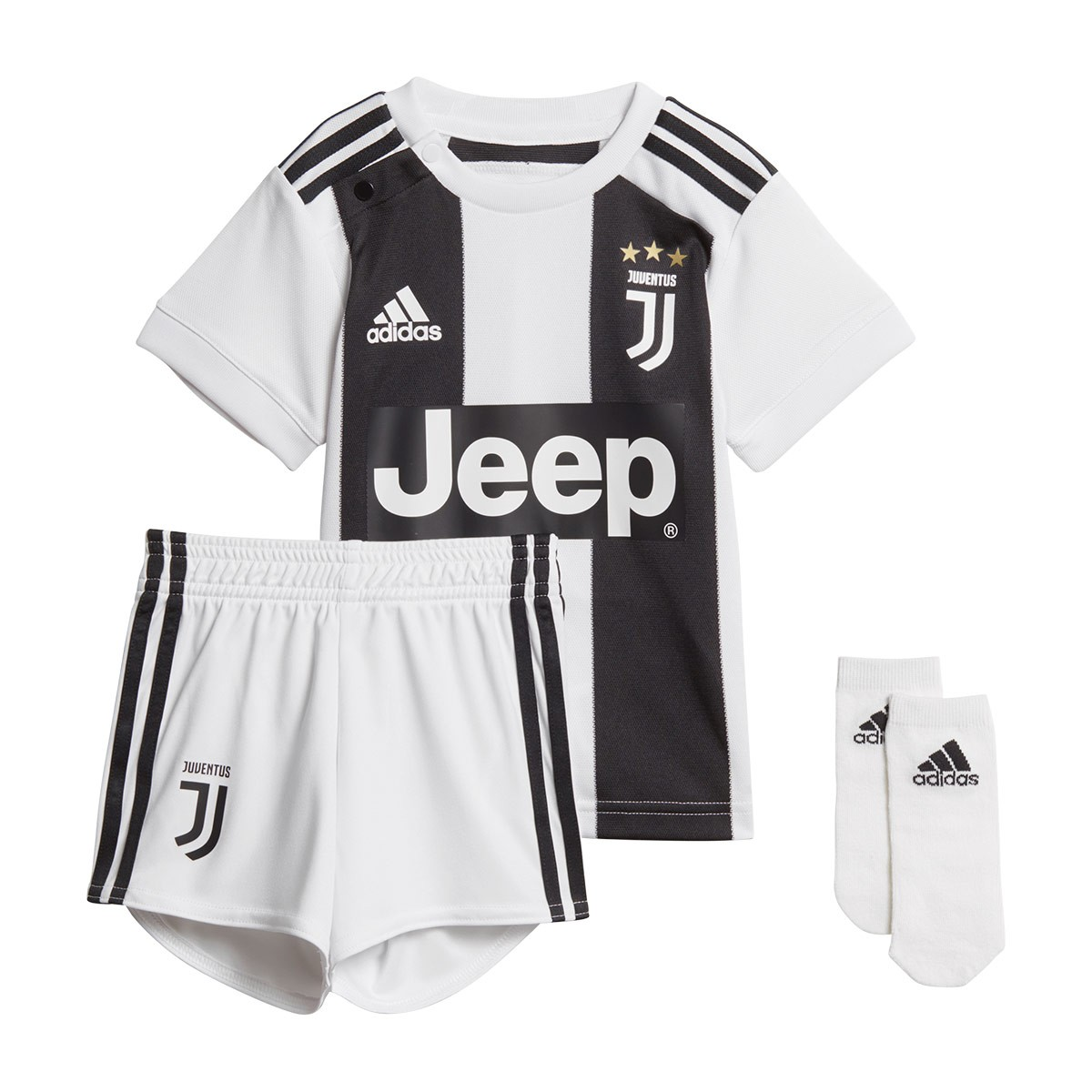 sale retailer 7ddb6 f8872 Conjunto Bebé Juventus Primera Equipación 2018-2019 Black-White
