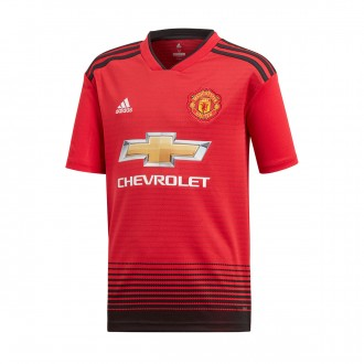 Jersey  adidas Kids Manchester United FC 2018-2019 Home Real red-Black