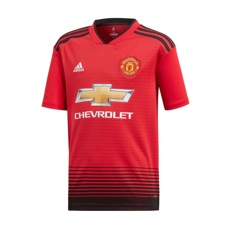 Jersey adidas Kids Manchester United FC 2018-2019 Home Real red ... e3b9860e9d3ad