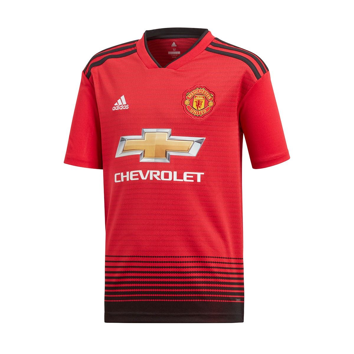 low priced c85d7 beb41 Camiseta Manchester United FC Primera Equipación 2018-2019 Niño Real  red-Black