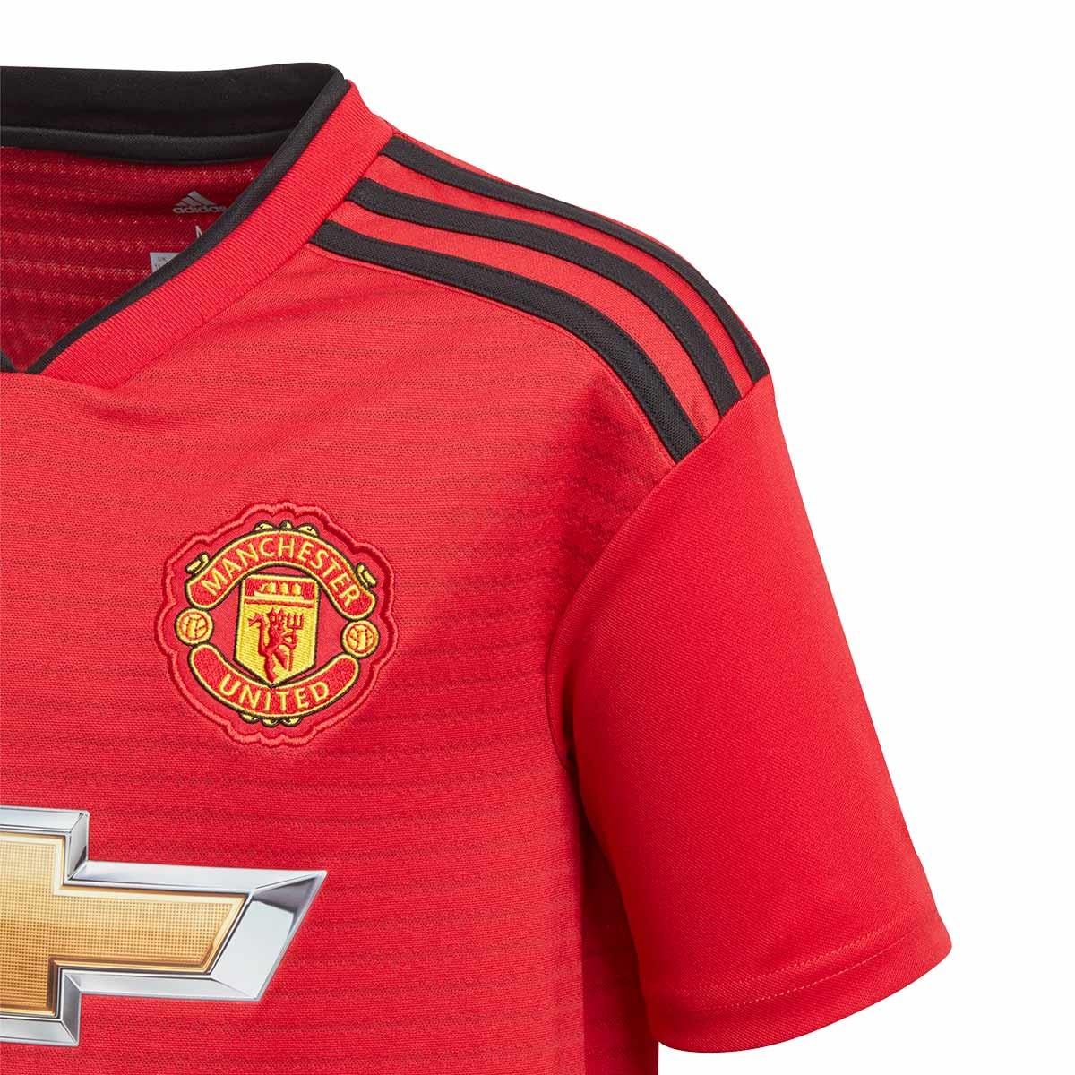 Camiseta adidas Manchester United FC Primera Equipación 2018-2019 Niño Real  red-Black - Soloporteros es ahora Fútbol Emotion 18508d868f0