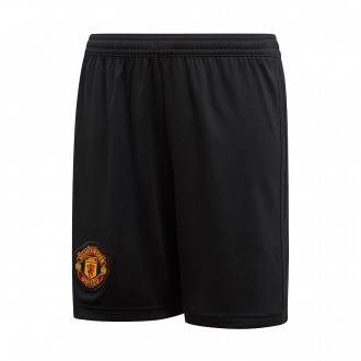 Shorts  adidas Kids Manchester United FC 2018-2019 Home Black-Real red