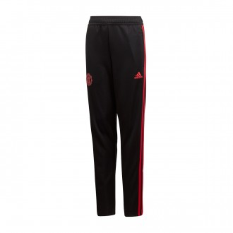 Tracksuit bottoms  adidas Kids Manchester United FC Training 2018-2019 Black-Blaze red-Core pink
