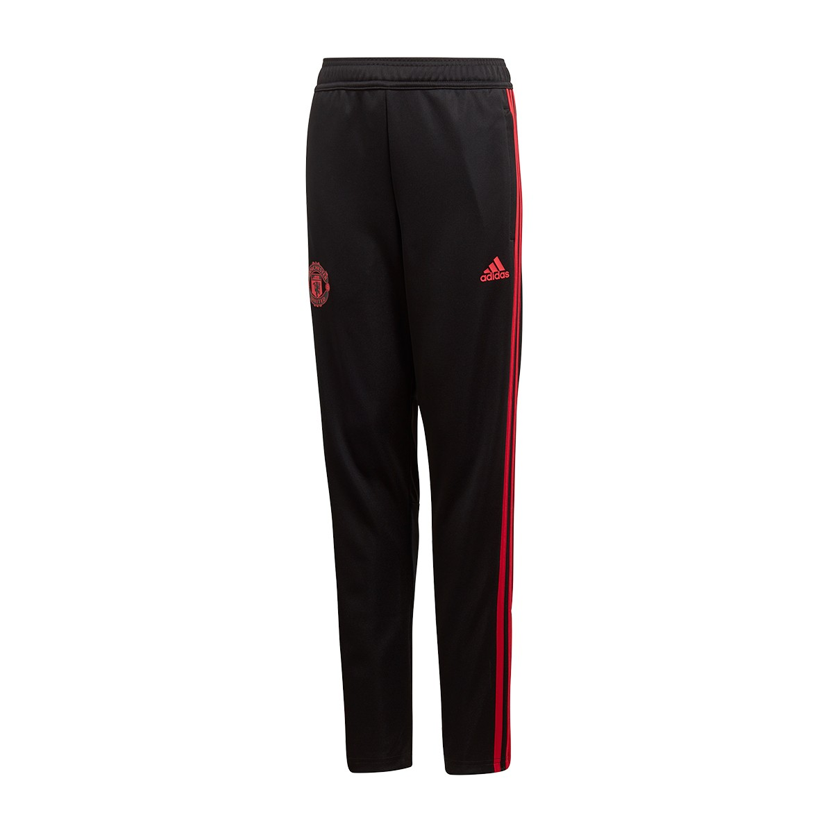 b1510ce08 adidas Kids Manchester United FC Training 2018-2019 Long pants. Black-Blaze  red-Core pink ...