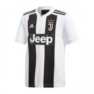 Camisola  adidas Juventus Equipamento Principal 2018-2019 Crianças Black-White