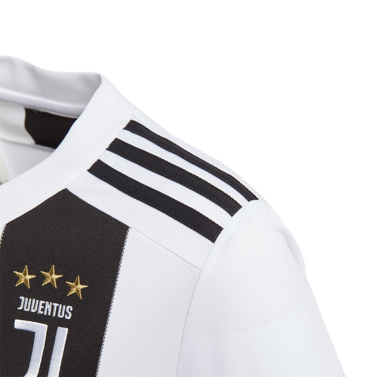 049f01c3e6 Camisola adidas Juventus Equipamento Principal 2018-2019 Crianças  Black-White - Loja de futebol Fútbol Emotion