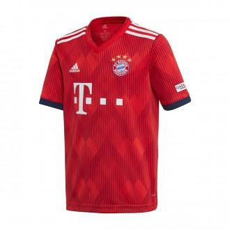 Camiseta  adidas FC Bayern Munich Primera Equipación 2018-2019 Niño True red-Strong red-White
