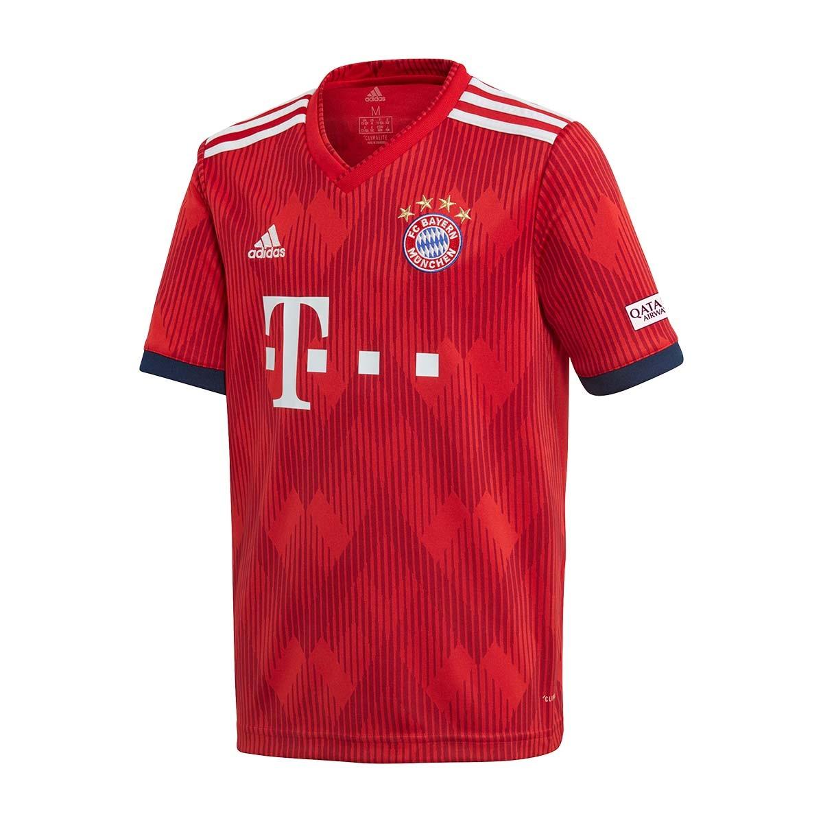 Camiseta adidas FC Bayern Munich Primera Equipación 2018-2019 Niño True  red-Strong red-White - Soloporteros es ahora Fútbol Emotion 9927336e4c6