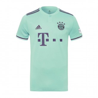 Maillot  adidas FC Bayern Munich Extérieure 2018-2019 enfant Green-Trace purple-White