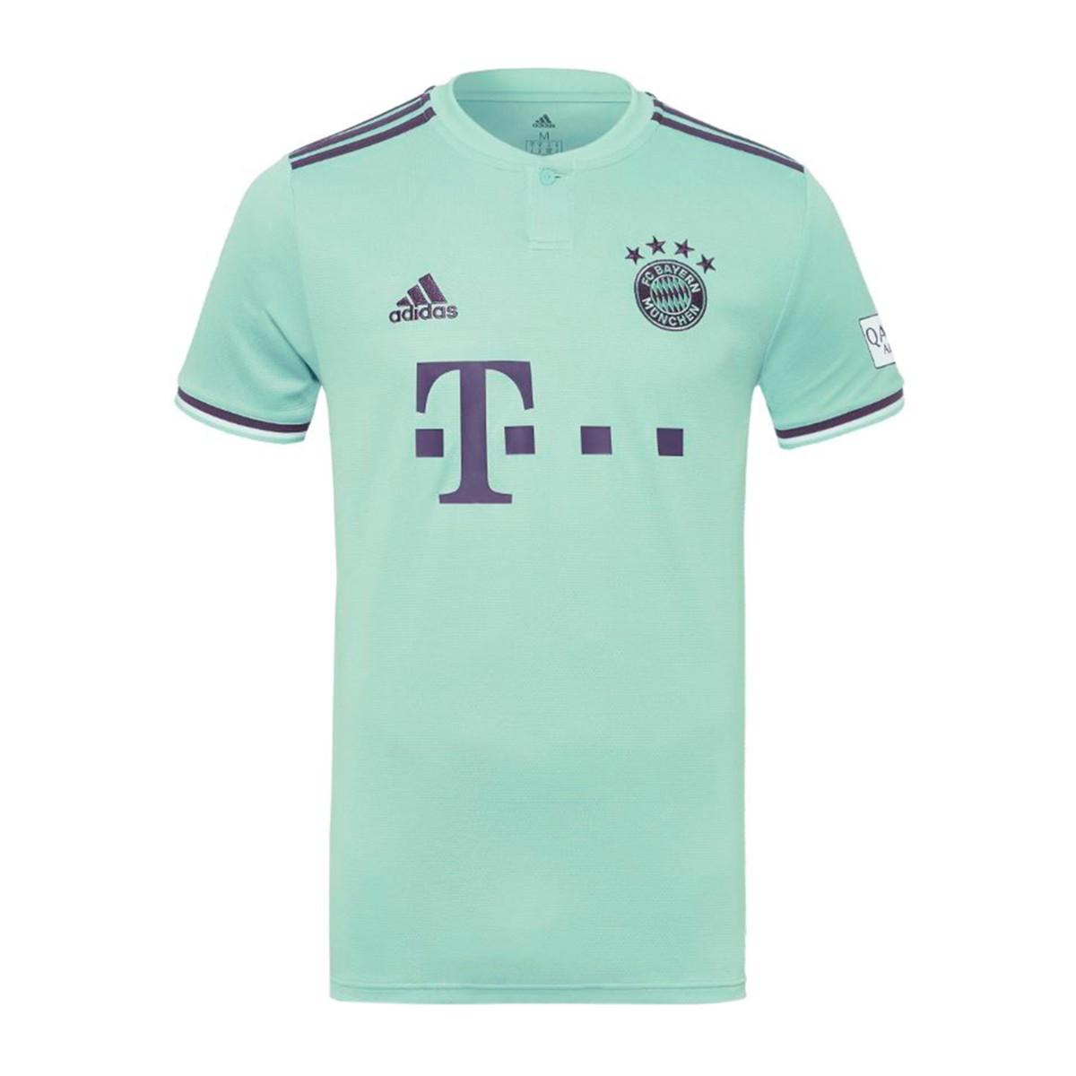 6050ef221 Camiseta adidas FC Bayern Munich Segunda Equipación 2018-2019 Niño  Green-Trace purple-White - Tienda de fútbol Fútbol Emotion