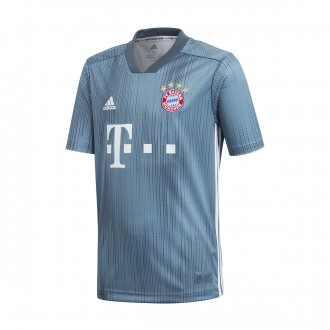 Jersey  adidas Kids FC Bayern Munich 2018-2019 Third Raw steel-Utility blue-White