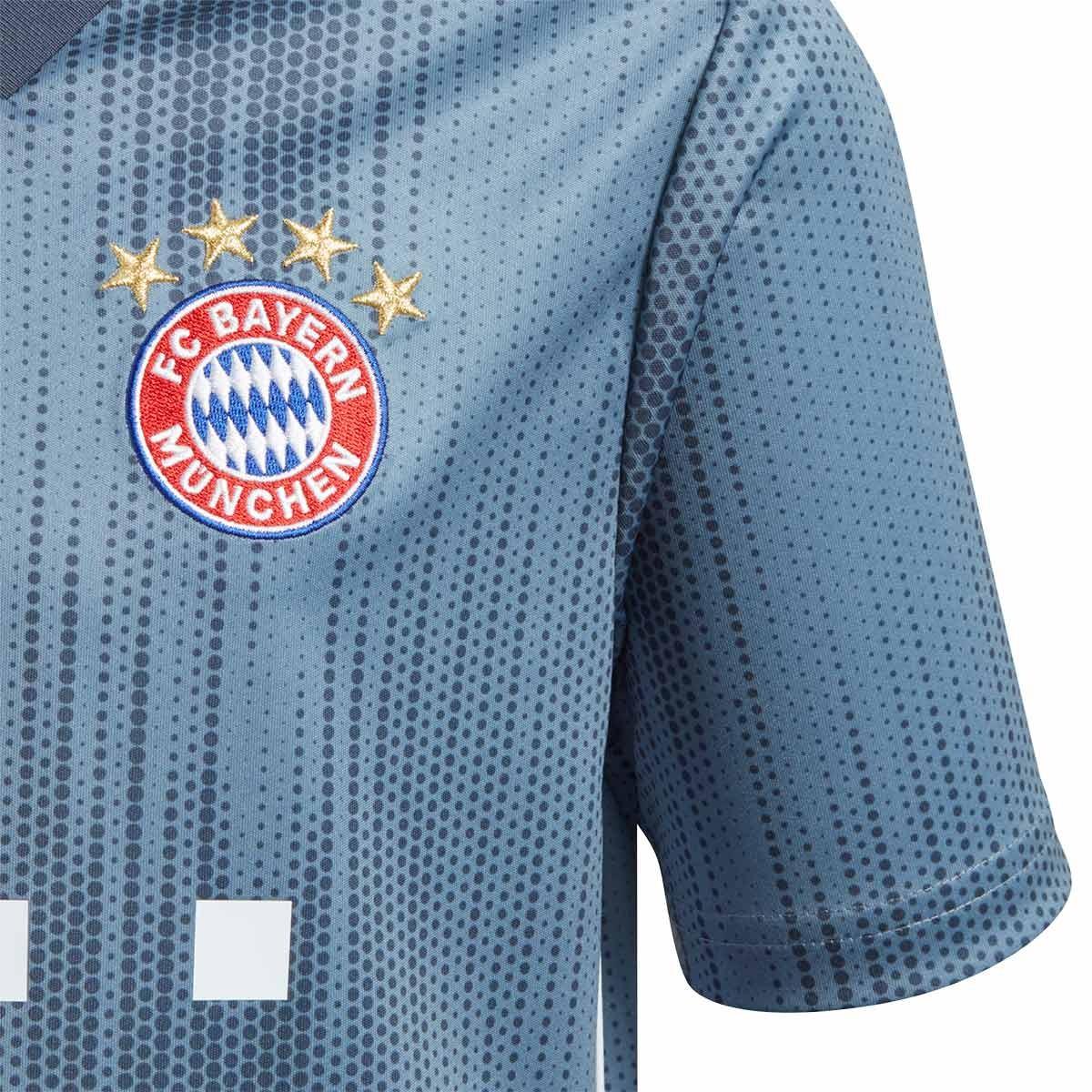 info for 11a5a 65770 Camiseta FC Bayern Munich Tercera Equipación 2018-2019 Niño Raw  steel-Utility blue-White