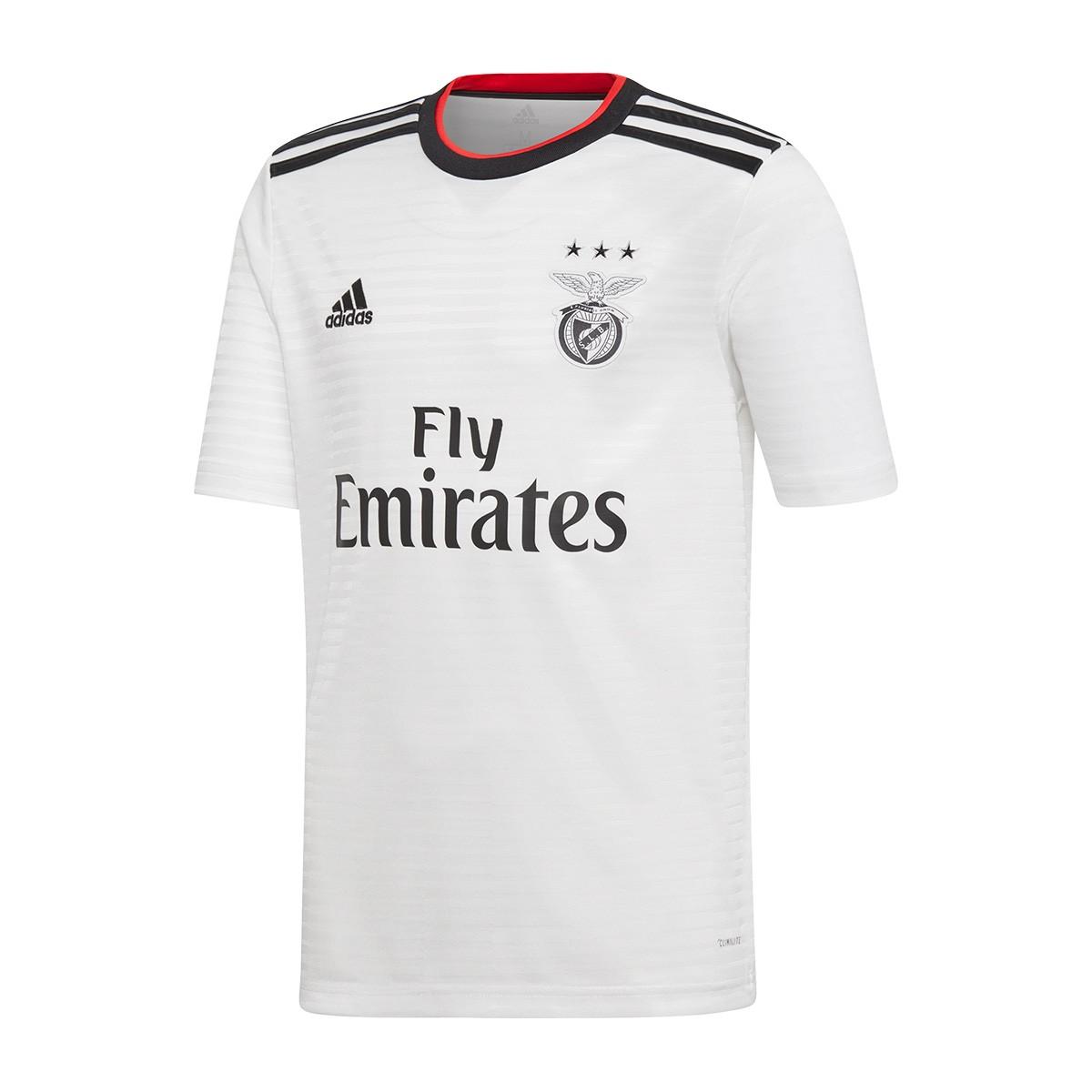 Camiseta SL Benfica Segunda Equipación 2018 2019 Niño White Black Benfica red