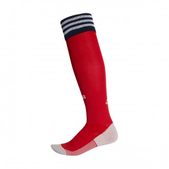 Football Socks  adidas FC Bayern Munich 2018-2019 Home True red-White-Collegiate navy
