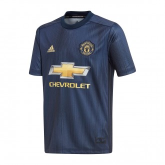 Camisola  adidas Manchester United FC Equipamento Alternativo 2018-2019 Collegiate navy-Night navy-Matte gold