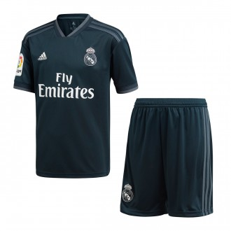 Kit  adidas Kids Real Madrid 2018-2019 Away Tech onix-Bold onix-White