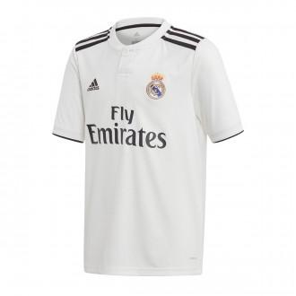 Camiseta  adidas Real Madrid Primera Equipación LFP 2018-2019 Niño White-black