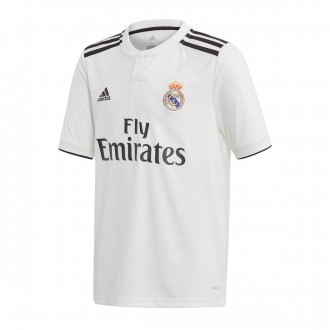 Camiseta  adidas Real Madrid Primera Equipación 2018-2019 Niño White-black