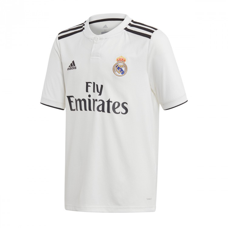 Jersey adidas Kids Real Madrid 2018-2019 Home White-black ... a9b08f02b1552