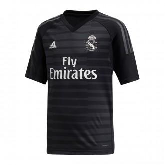 Camiseta  adidas Real Madrid Portero Primera Equipación 2018-2019 Niño Black-Carbon
