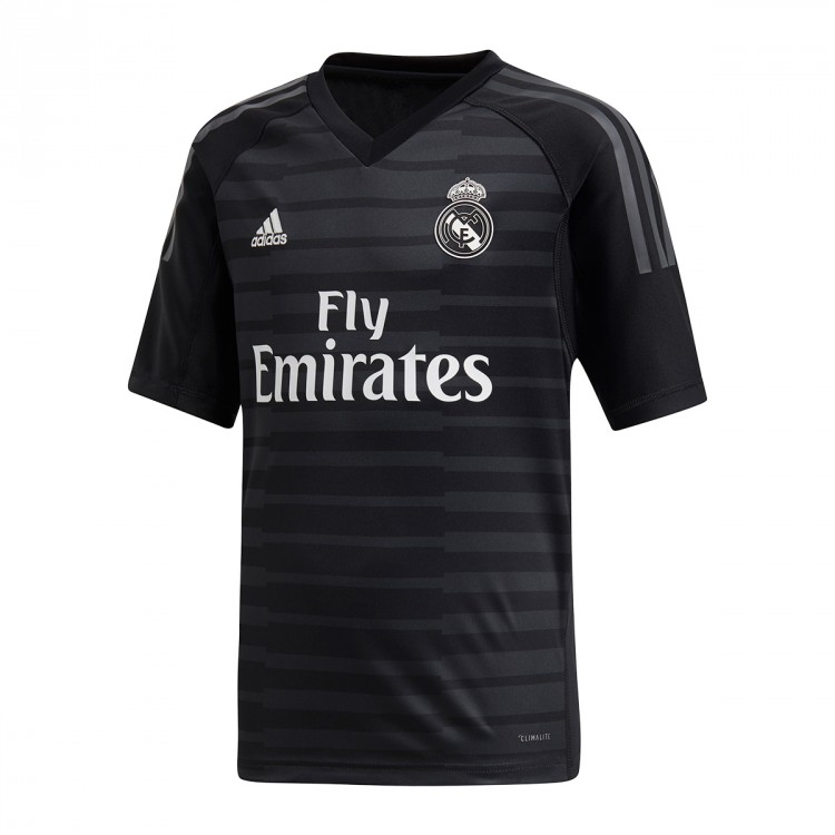 99b107e293c2c Jersey adidas Kids Goalkeeper Real Madrid 2018-2019 Home Black ...