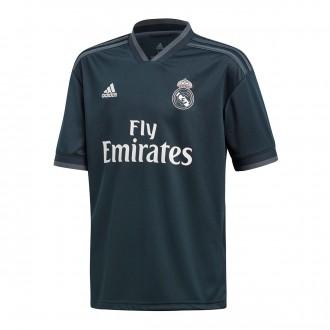 Camiseta  adidas Real Madrid Segunda Equipación LFP 2018-2019 Niño Tech onix-Bold onix-White